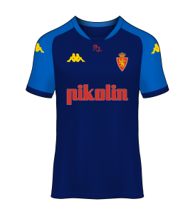 camiseta alternativa Real Zaragoza 02/03