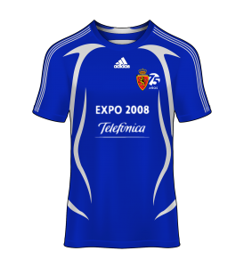 camiseta alternativa Real Zaragoza 07/08