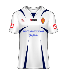 Camiseta local Real Zaragoza 06/07