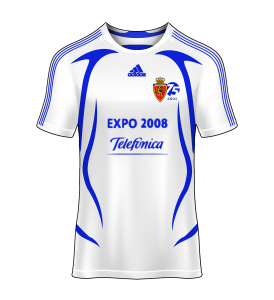 camiseta local Real Zaragoza 07/08