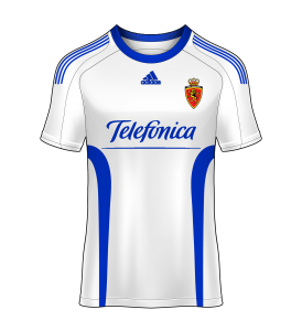 camiseta local Real Zaragoza 09/10