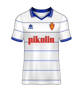 camiseta local Real Zaragoza 00/01