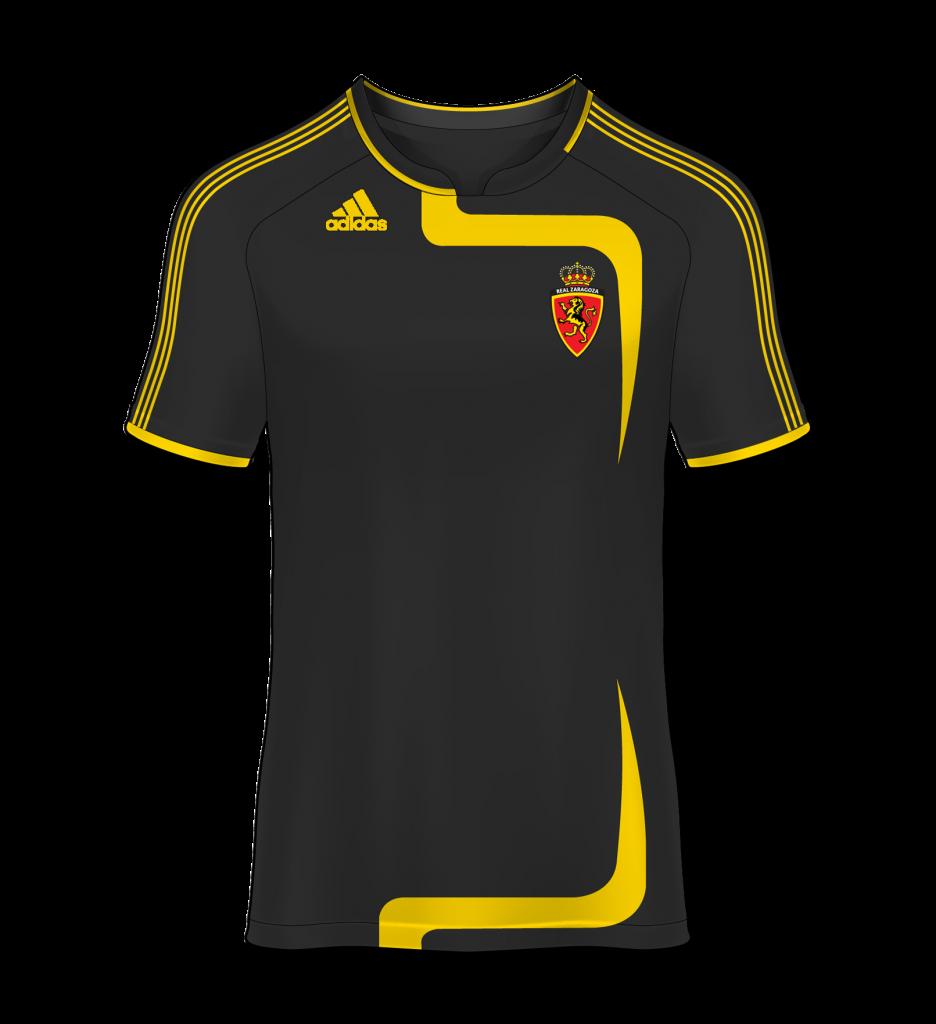 camiseta visitante Real Zaragoza 08/09