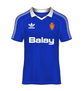 Camiseta alternativa real zaragoza 86-87