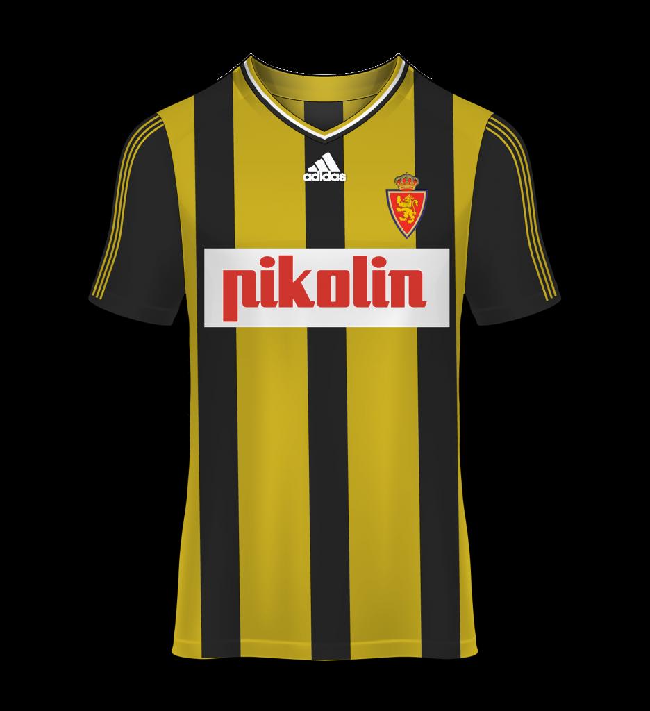camiseta avispa visitante Real Zaragoza 98/99