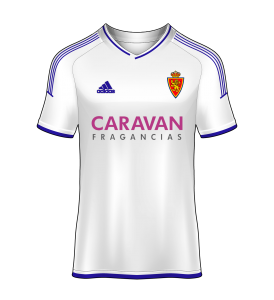 camiseta local Real Zaragoza 16/17