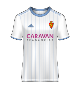 camiseta local Real Zaragoza 18/19