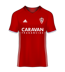 camiseta alternativa Real Zaragoza 16/17