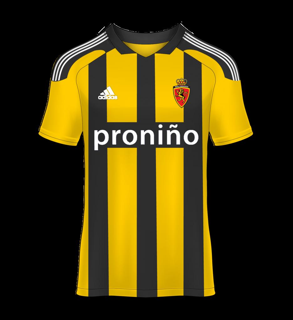 camiseta avispa visitante Real Zaragoza 11/12