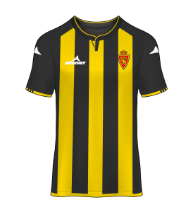 camiseta avispa visitante Real Zaragoza 13/14