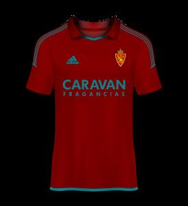 camiseta visitante Real Zaragoza 17/18