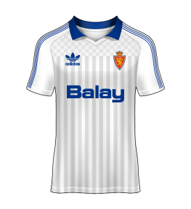 Camiseta local real zaragoza 87-88