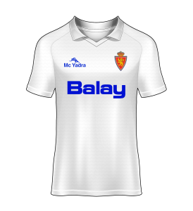 camisetas Real Zaragoza 90/91 Local