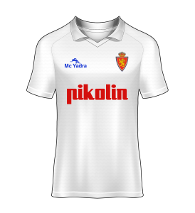 camiseta local Real Zaragoza 91/92