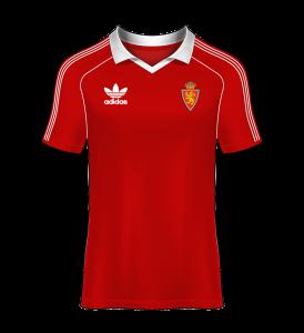 Camiseta visitante real zaragoza 81-82