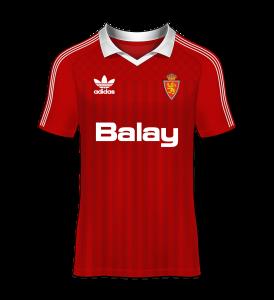 Camiseta visitante real zaragoza 87-88