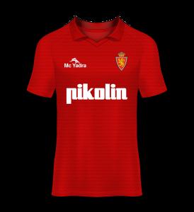 camiseta visitante Real Zaragoza 91/92