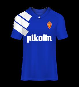 camiseta visitante Real Zaragoza 92/93