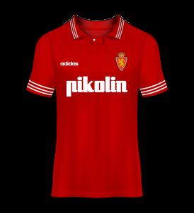 camiseta visitante Real Zaragoza 95/96